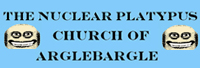 The Nuclear Platypus Church of Arglebargle Logo